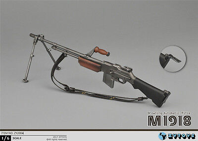 ZYTOYS ZY2004 WWII 1/6 The US Military M1918 BAR Light Machine Gun Weapon Model  for sale  Shipping to Canada