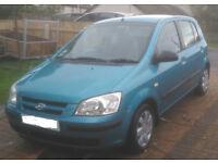 Hyundai GETZ 1.1 , 5 door , mot'd to december 63775 genuine very low miles vgc , not clio