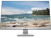 HP 27 inch monitor (AMD FreeSync, DisplayPort, HDMI, DVI-D, 2560x1440)