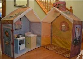 Rose petal cottage play house tent