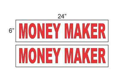 Money Maker 6x24 Real Estate Rider Signs Buy 1 Get 1 Free 2 Sided Plastic