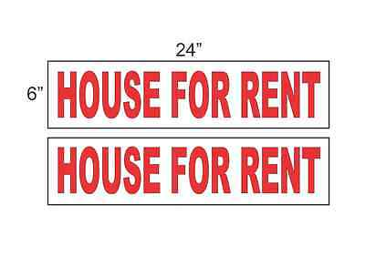 House For Rent 6x24 Real Estate Rider Signs Buy 1 Get 1 Free 2 Sided