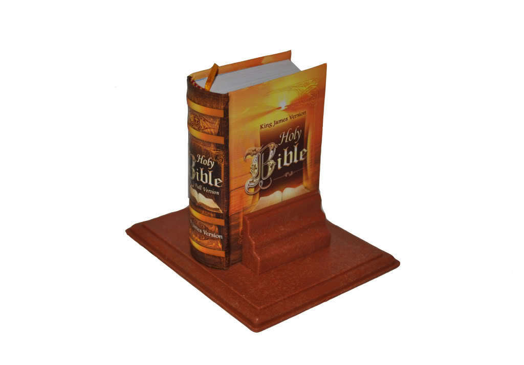 Magnificent Holy Bible Full Version King James Mini Book Hardbound W Stand