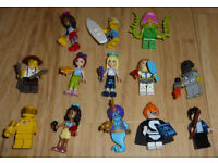 x13 Lego mini figures including Harry Potter, Friends and Disney