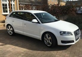 Audi A3 2.0 TDI, 2008, 68,822 Miles, 5 Door, White, Manual, Excellent Condition, 1 Owner From New