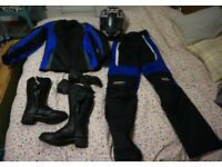 Complete set of ladies motorcycle gear