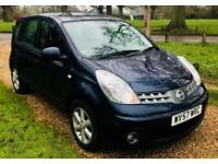 Nissan Note Acenta 1.4 with Bluetooth, New MOT-No Advisories, Full Service History, ONLY 32K Mileage