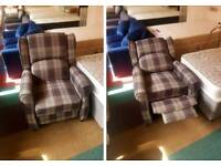 Black & Grey recliner chair