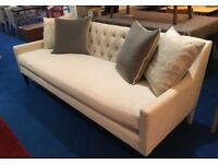 Pure Designer by Sonder Living Cream Sofa in Chenile Fabric rrp £2700