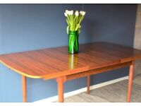 Vintage Danish style rosewood extending table and chairs. Delivery. Modern / Mid-century.