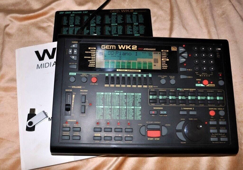 GEM WK2 MIDI ARRANGER with USB port + 5000 extra styles   in Horsham, West  Sussex   Gumtree