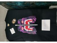 BAPE color camo tiger tee black/purple