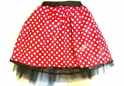 HALLOWEEN RED BOW MOUSE TUTU COSTUME Kids Teens Fancy Dress  Accessory Set UK](Scary Minnie Mouse Costume)