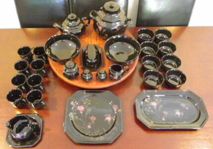 28 pieces of Dinner ware Mikasa Ebony Meadow selling as a set
