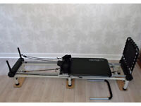 Aero Pilates 4 Cord Reformer Exercise Machine with Cardio Rebounder Complete with Stand £250 ONO