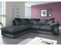 🌷💚🌷CHEAPEST PRICE EVER 🌷💚🌷DINO JUMBO CORD CORNER OR 3 AND 2 SEATER SOFA--BLACK/GREY OR BROWN