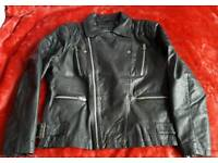Topman real leather jacket. Excellent condition. Size L, for 5.2 - 5.3 ft tall.