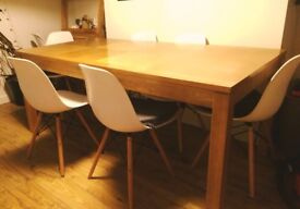 A beautiful large solid wood table