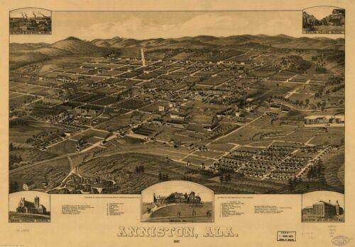 ALABAMA VINTAGE PANORAMIC MAPS COLLECTION ON CD