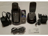 Panasonic KX-TCD222 Cordless Two Telephones & Answering Machine £5! MUST GO! Faulty!