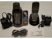 Panasonic KX-TCD222 Cordless Two Telephones & Answering Machine £4! MUST GO! READ!