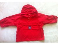 Jojo Maman bebe red waterproof,windproof jacket size 3-4 years