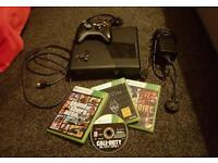 Xbox 360 slim console 4gb bundle, memory usb, controller hdmi, games, headphones
