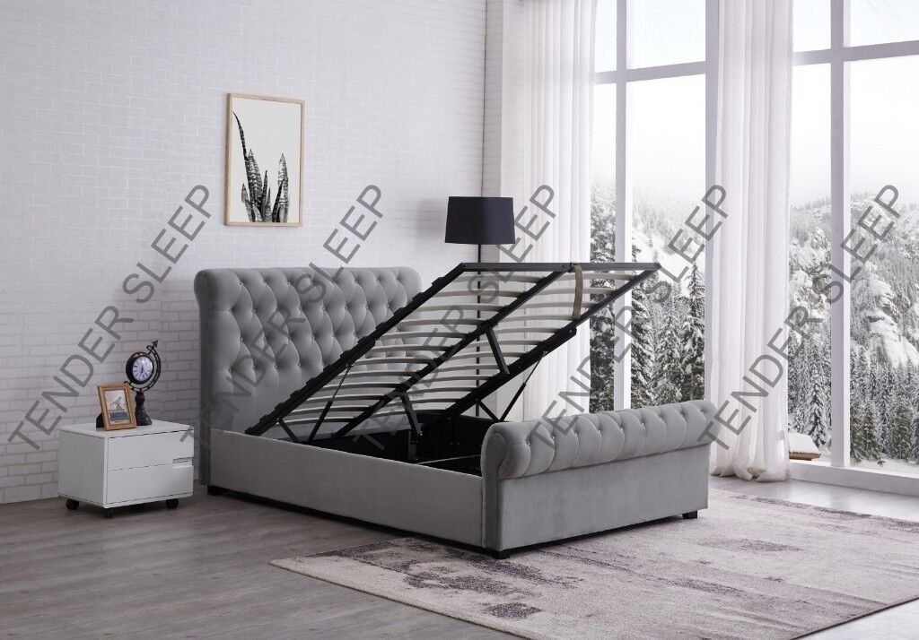 15e45388064f HIGH QUALITY -BRAND NEW DOUBLE OR KING SLEIGH STORAGE   WITHOUT STORAGE BED  FRAME WITH MATTRESS. Westminster ...