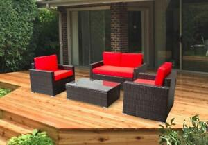Patio furniture conversation set lawn garden brand new - ALUMINUM FRAME