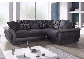 Grey Fabric sofa - Corner sofa , New