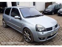 Renault Clio 2.0 172 Renault Sport 3 door hatch , met silver , upgraded alloys, 12 mths mot, 67k !!