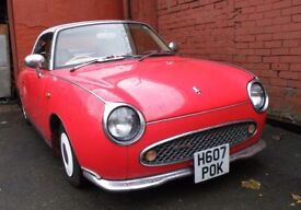 Nissan Figaro 1L Turbo Auto Red Custom Convertible