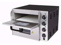 LARGE 19 INCH DOUBLE DECK PIZZA OVEN !!! FREE DELIVERY commercial 50cm single phase shop pub