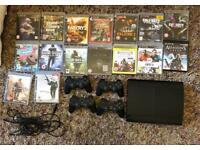 PS3, 16 games, 4 controllers