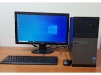 Complete Dell PC Computer Windows 10 Intel Core- i7-26008GB RAM 120GB SSD&500GB HDD Wifi Office