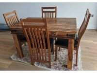 Wooden solid wood dinning table and chairs