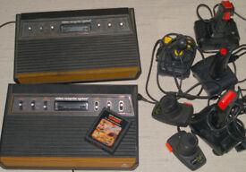 2x Vintage Atari 2600 Woody Sixers 1 Sunnyvale #86126 6 Joysticks/Paddles & Combat Game