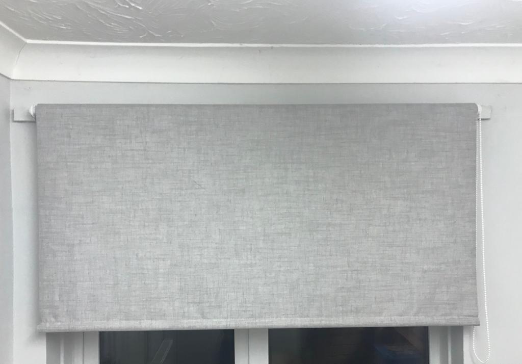 Two 120cm black out blinds