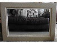 Large Shabby Chic Hall / Mantel Mirror - Pine