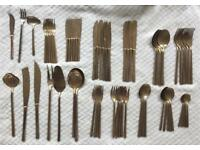 Golden 67 piece cutlery