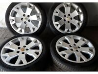 """Set of 4 GSI 17"""" Alloy Wheels with tyres"""