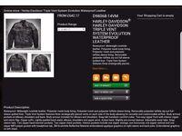 Harley davidson triple vent leather jacket