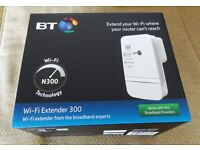 BT WI-FI EXTENDER 300 - EXTENDS YOUR WIFI RANGE - WORKS WITH ALL BROADBAND PROVIDERS