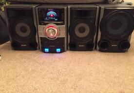 Sony MHCGTZ3i 3 Disc CD/MP3/USB/iPOD/FM/AM Mini System with Subwoofer