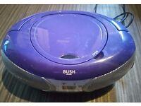 Purple cd player