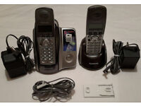 Panasonic KX-TCD222 Cordless Two Telephones & Answering Machine £5! FAULTY!