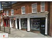 Refurbished, period shop in the centre of Farnham, Surrey. 760 sq ft.