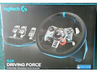 NEW&SEALED Logitech G29 Driving Force Racing Wheel (PS4, PS3)~UK-Plug
