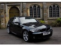 "2008 (08 REG) BMW 118D M SPORT AUTO BLACK - WITH SAT NAV! 18"" M SPORT ALLOYS!"