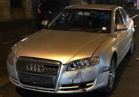 Audi A4 2006 1.9 SE TDI 115 Diesel Silver SPARES OR REPAIRS Cat N